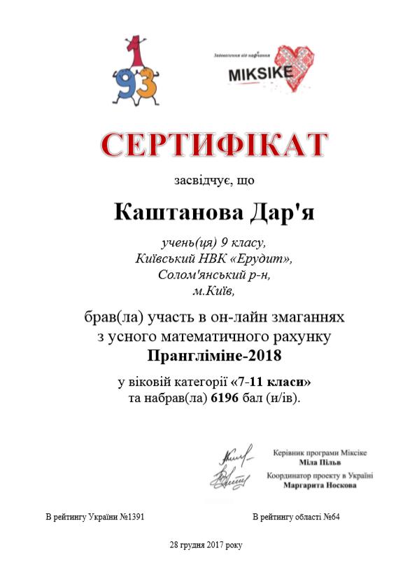 Каштанова